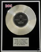 "JOY DIVISION -7"" Platinum Disc -LOVE WILL TEAR US APART"
